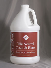 Tile Neutral Clean & rinse