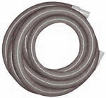 "VAC HOSE 1.5""GREY 25'W/CUFFS INCLUDES 1.5"" CUFFS"